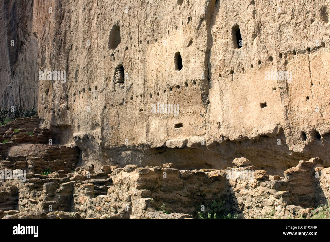 Ancestral Pueblo People Anasazi Long House, New Mexico - Stock Image