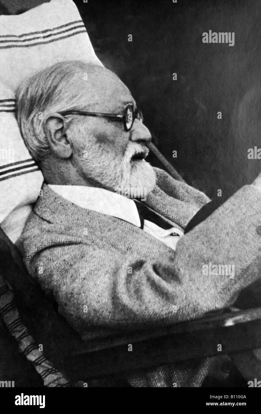 Sigmund Freud, 1856 - 1939, Austrian psychologist. - Stock Image