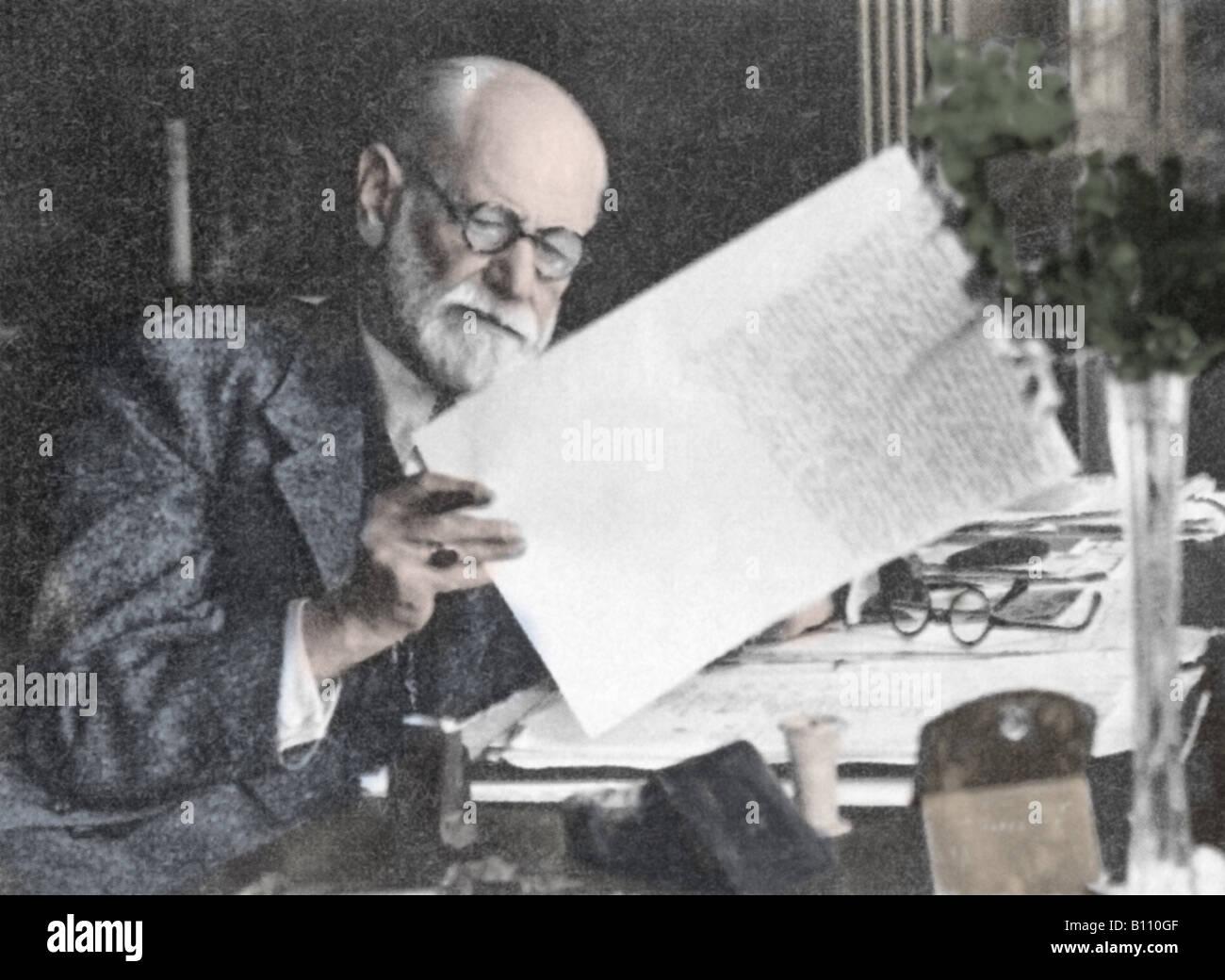 Sigmund Freud, 1856 - 1939, Austrian psychologist. Stock Photo
