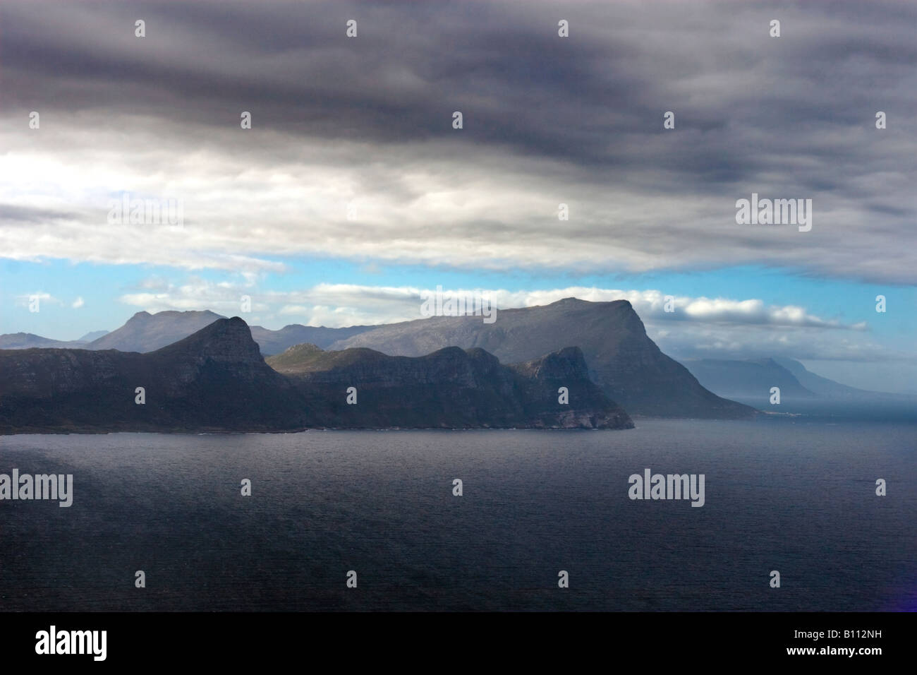 False Bay and the Table Mountain National Park seen from Cape Point - Stock Image