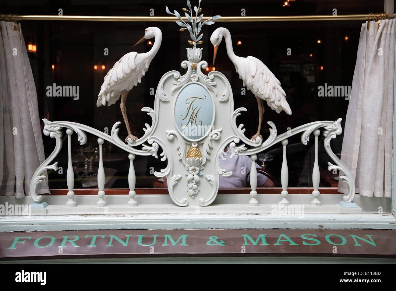 UK Britain England London Picadilly Fortnum Mason store window - Stock Image