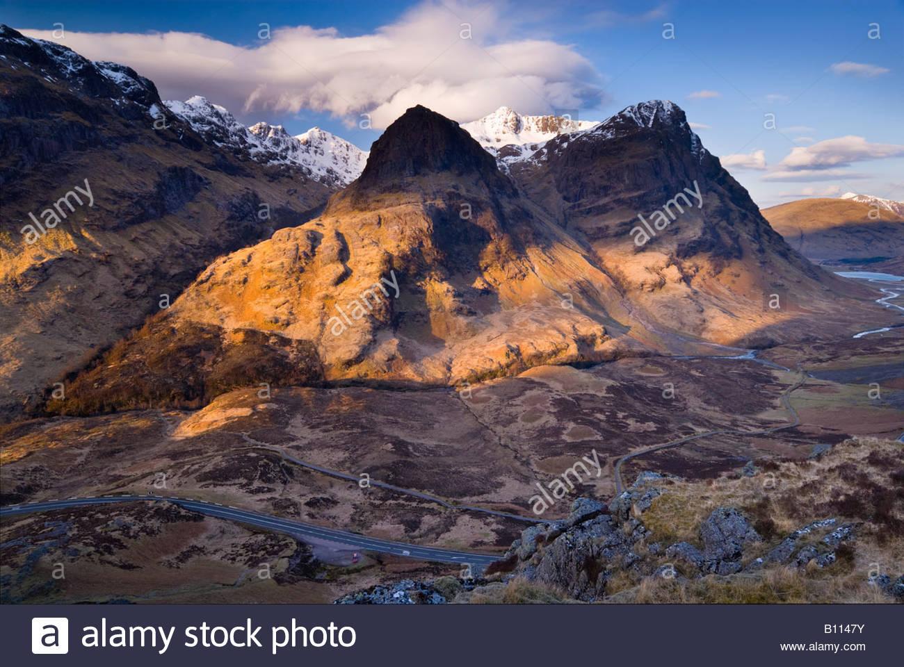 The Three Sisters of Glencoe, Highlands, Scotland, UK. - Stock Image