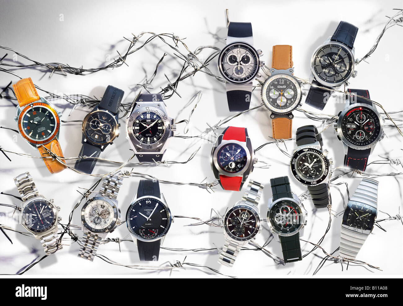Various wrist watches - Stock Image