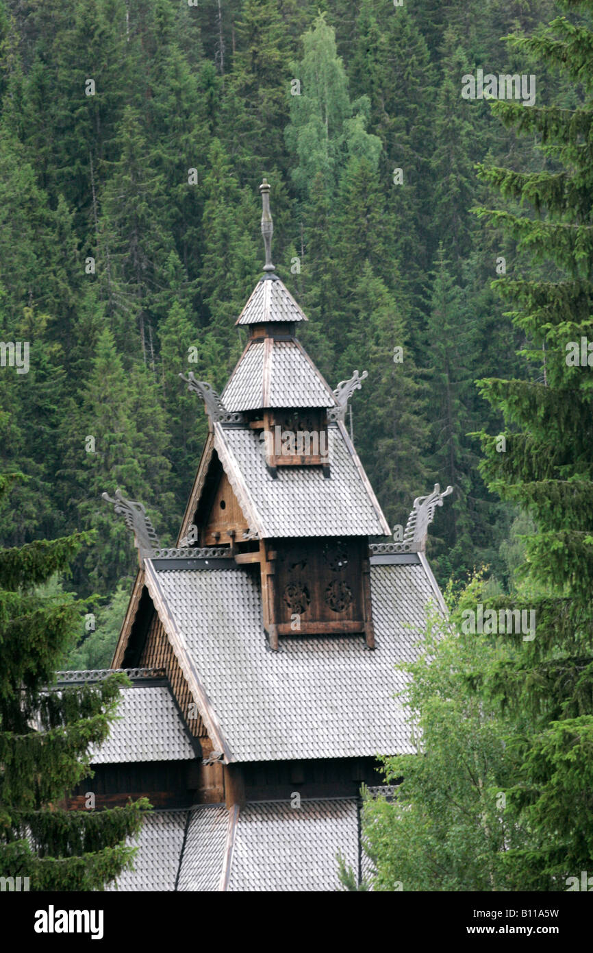 Gol Stave Church (replica), Gol, Hallingdal, Norway - Stock Image