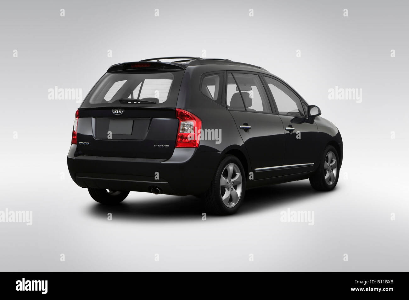 2008 Kia Rondo Ex V6 In Gray Rear Angle View Stock Photo 17856339