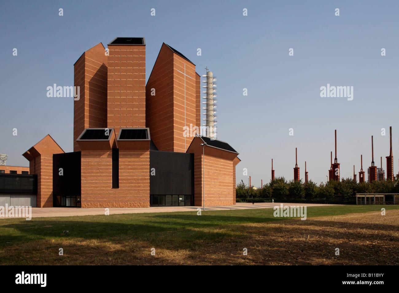 Turin, Santo Volto, Blick von Südwesten - Stock Image