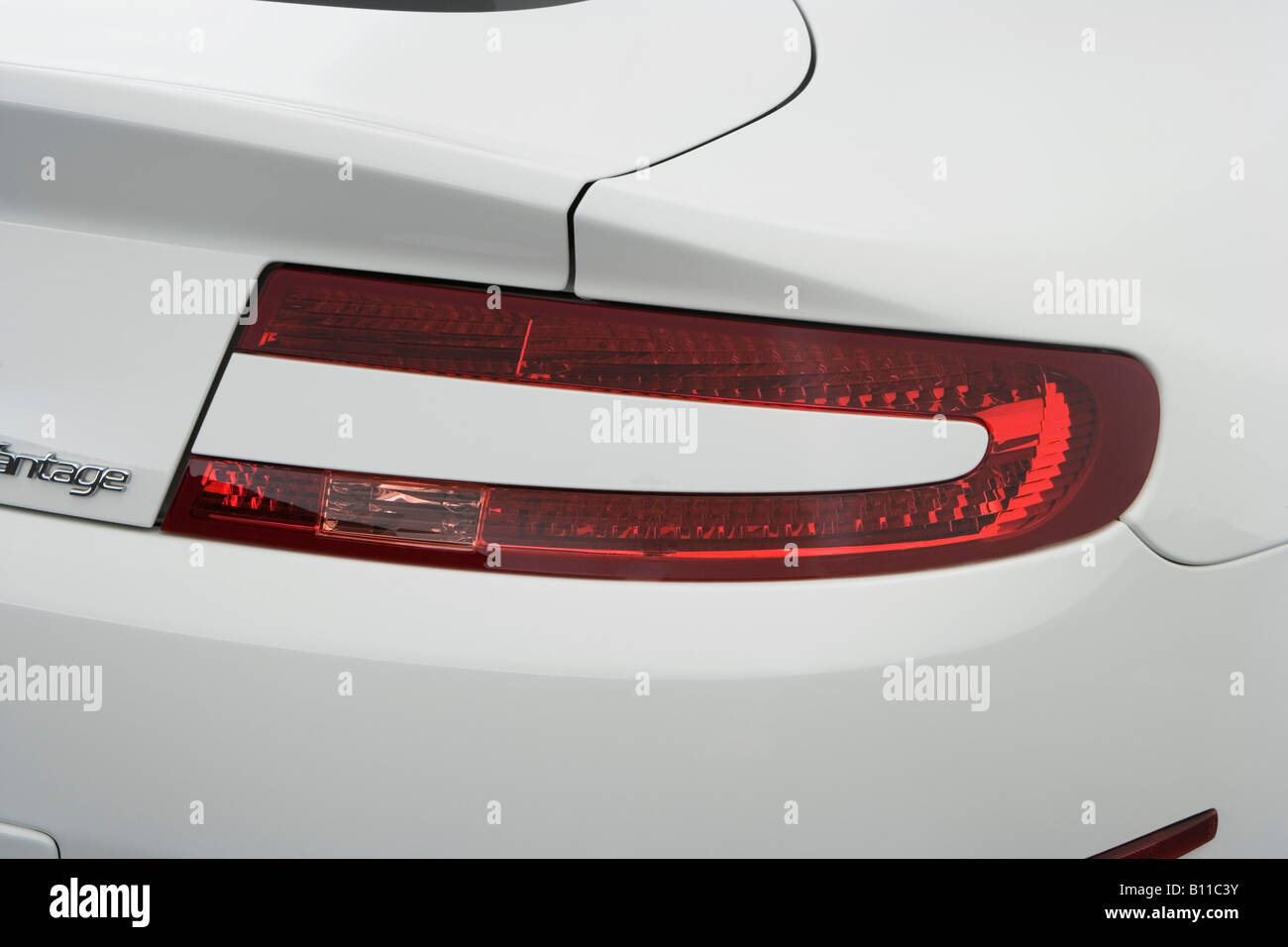 2008 Aston Martin V8 Vantage In White Tail Light Stock Photo
