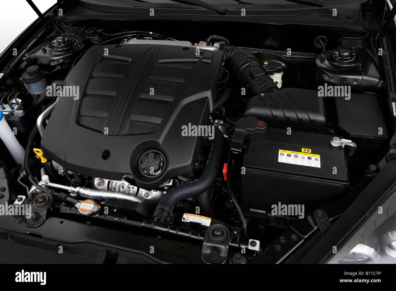 2008 Hyundai Tiburon GT Limited In Black   Engine   Stock Image