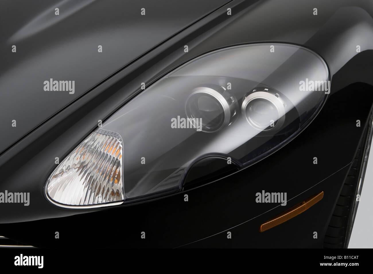 Aston Martin DB In Black Headlight Stock Photo Alamy - Aston martin headlights