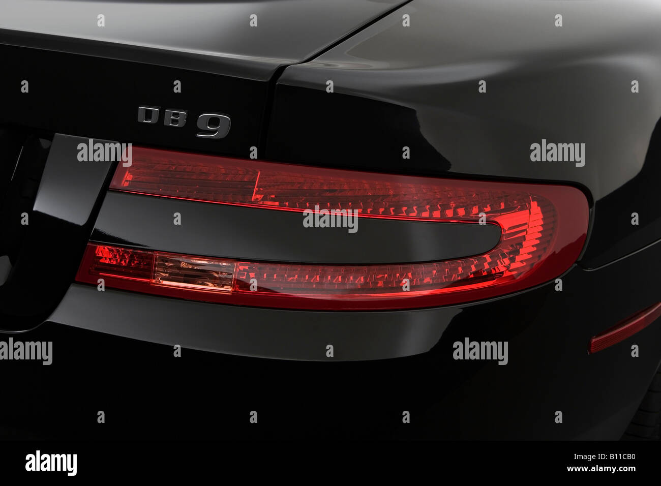 2008 Aston Martin Db9 In Black Tail Light Stock Photo 17856692