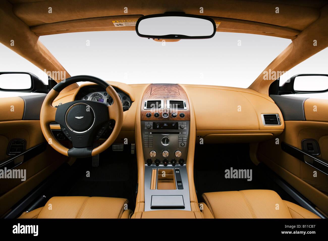 2008 aston martin db9 in black - dashboard, center console, gear