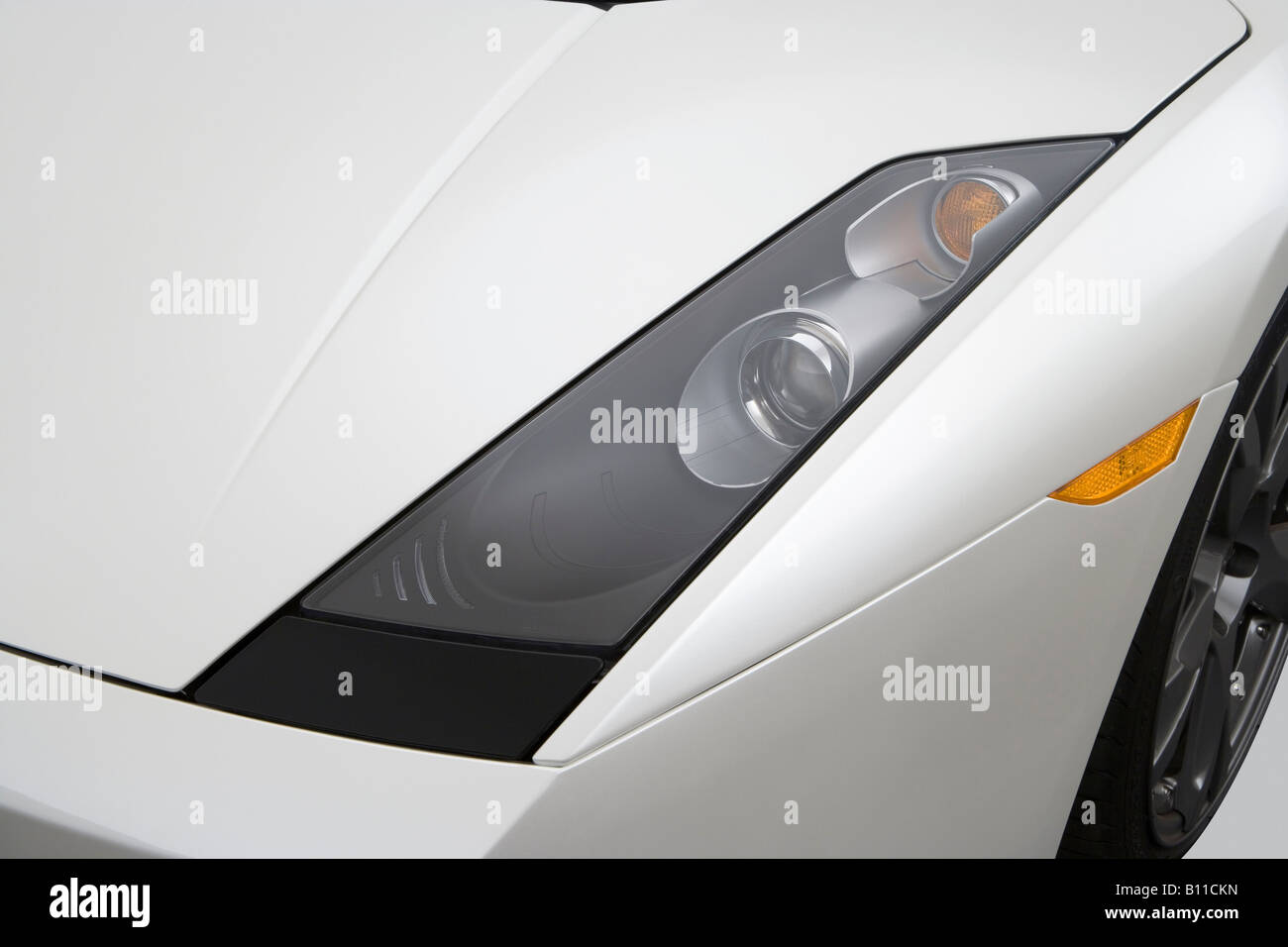 2008 Lamborghini Gallardo Spyder In White Headlight Stock Photo
