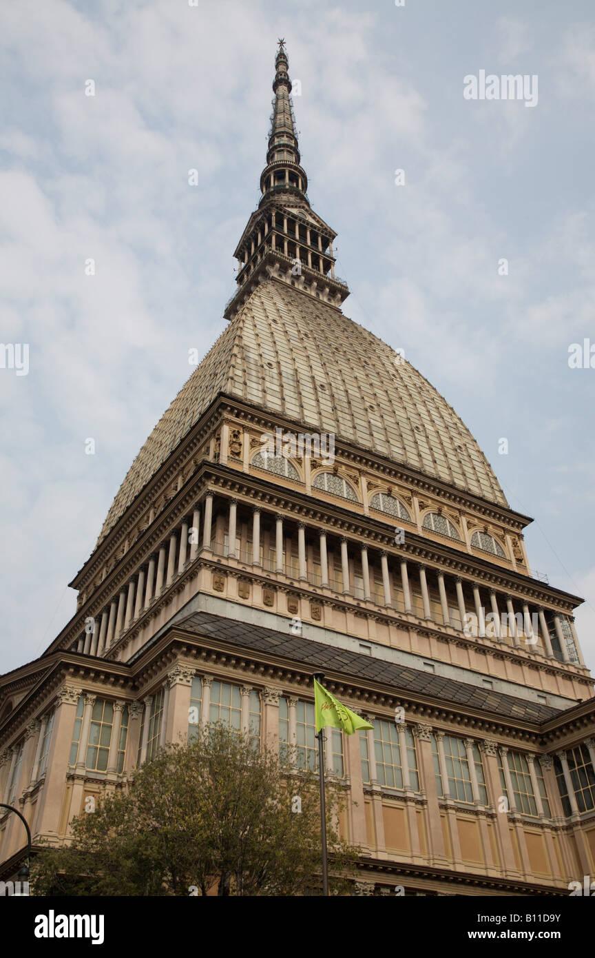 Turin, Mole Antonelliana, errichtet 1863-1880 n. Plänen v. Alessandro Antonelli, Kuppel Stock Photo