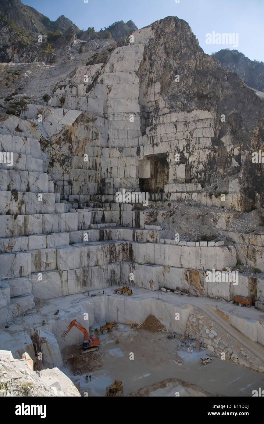 Carrara, Marmorsteinbruch, - Stock Image