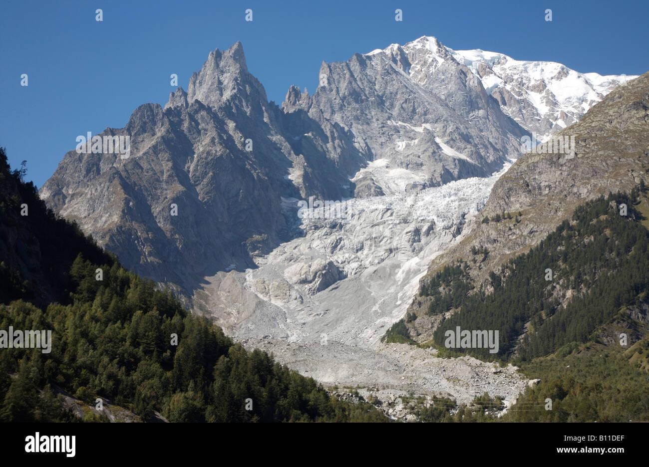 Aostatal, Blick auf den Mont Blanc - Stock Image