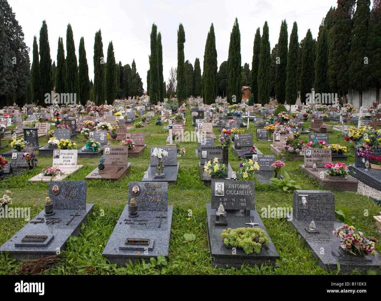 Venedig, Friedhof San Michele, Gräberfeld Stock Photo