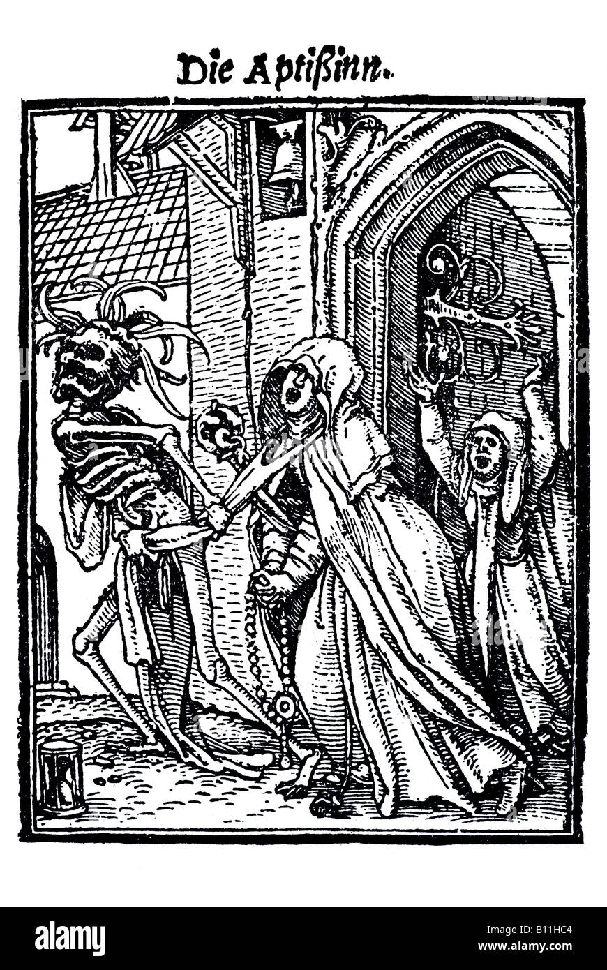The abbess, Hans Holbein the younger, Danse Macabre, 1538, Germany