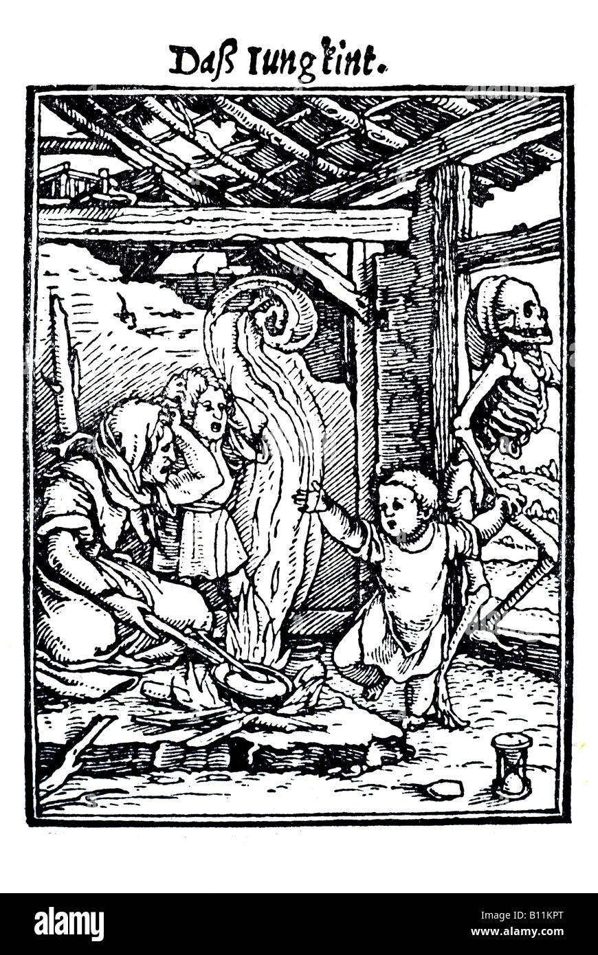 The young child, Hans Holbein the younger, Danse Macabre, 1538, Germany