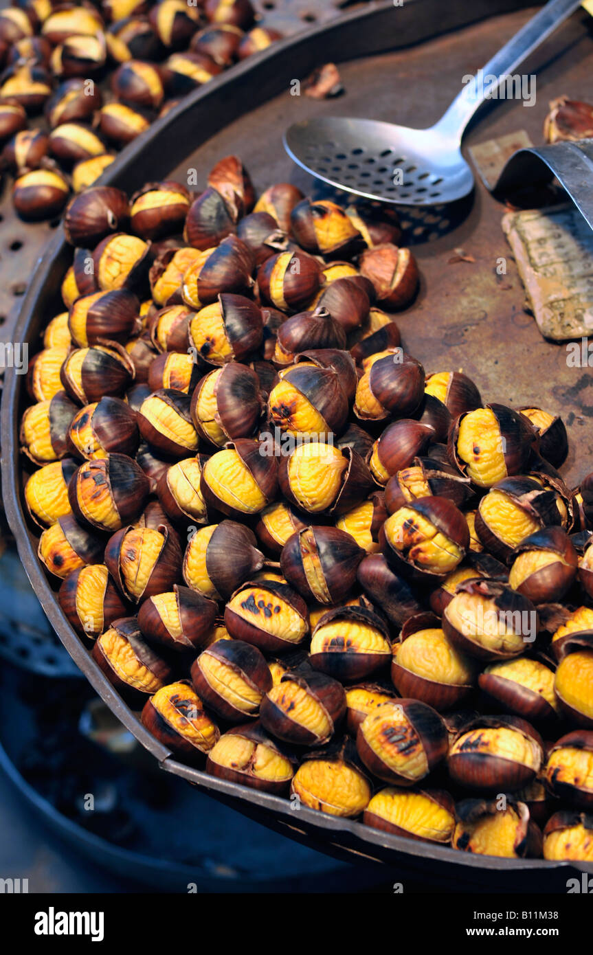 Roasted chestnuts - Stock Image