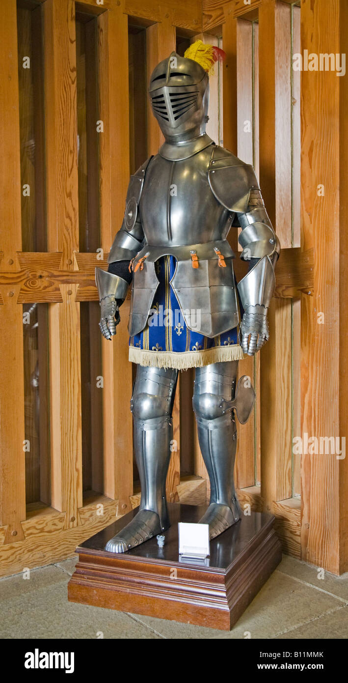 Replica Suit of Armour - Stock Image