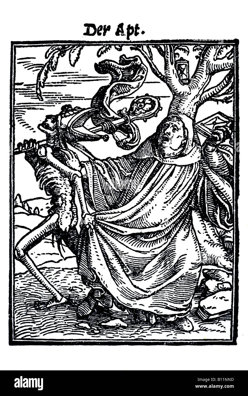 The abbot, Hans Holbein the younger, Danse Macabre, 1538, Germany