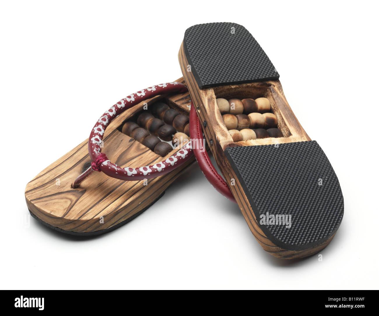 Wood Slipper Flip Flops Therapeutic Feet Massage Sole Outsole Gum