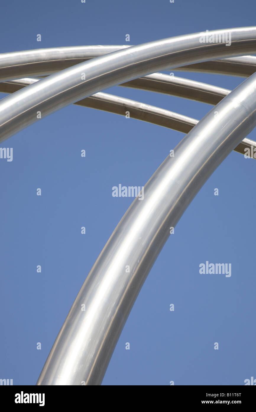 Metal Curve Design Stock Photo
