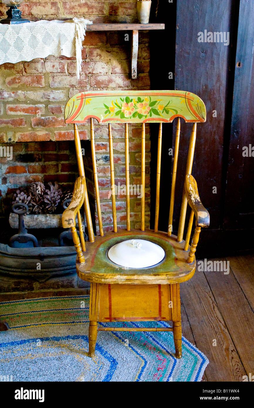 Antique Toilet Chair   Stock Image