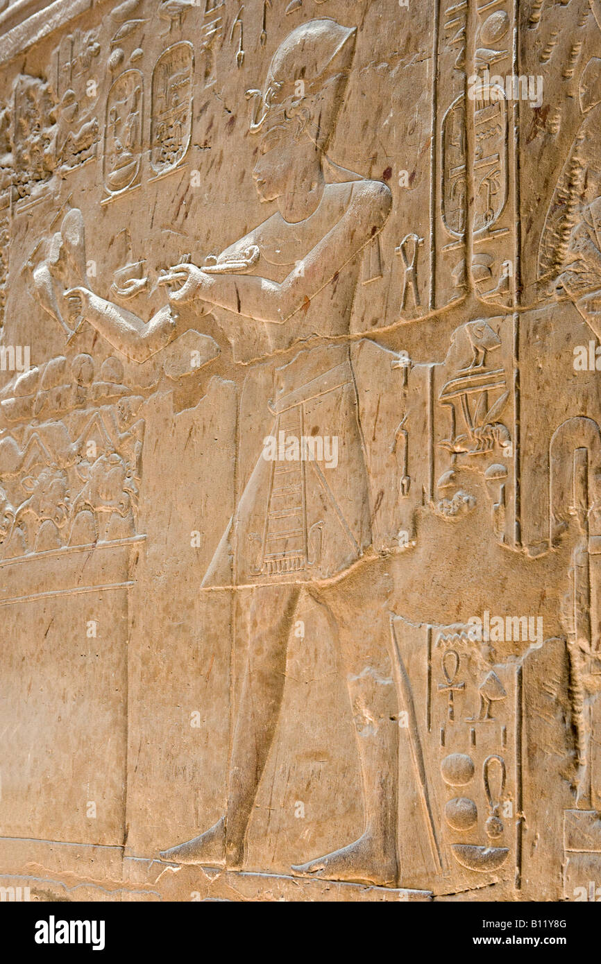 Ancient egyptian wall relief stock photos