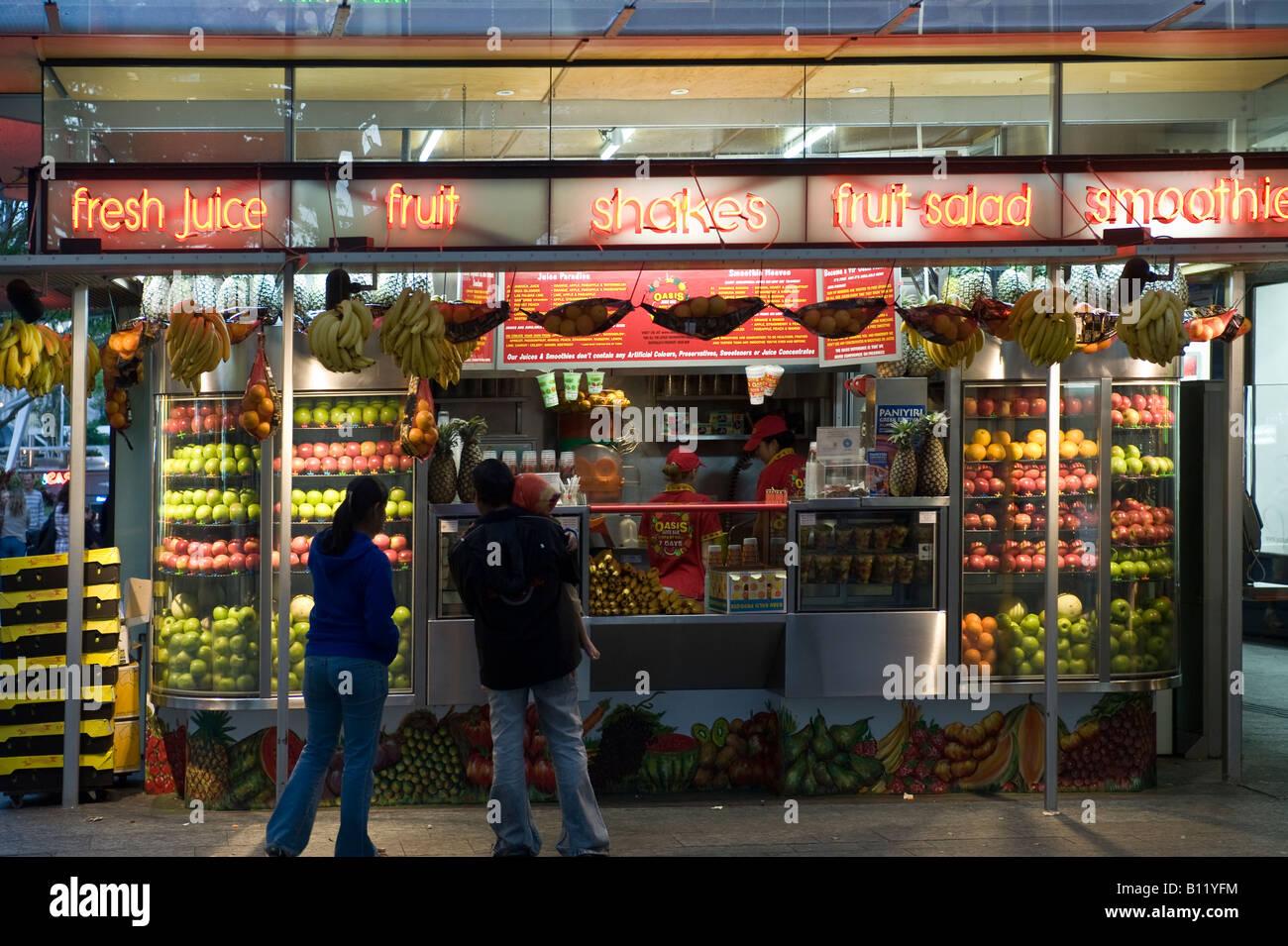 Fresh Fruit Juice Bar Stock Photo 17868584 Alamy