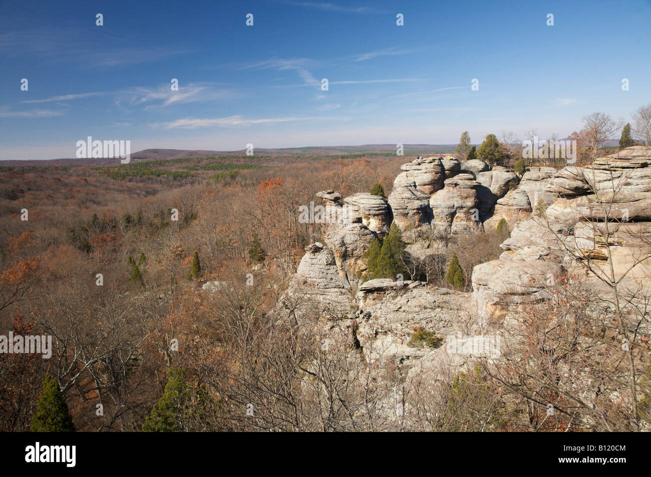 Garden of the Gods Wilderness Shawnee National Forest Illinois - Stock Image