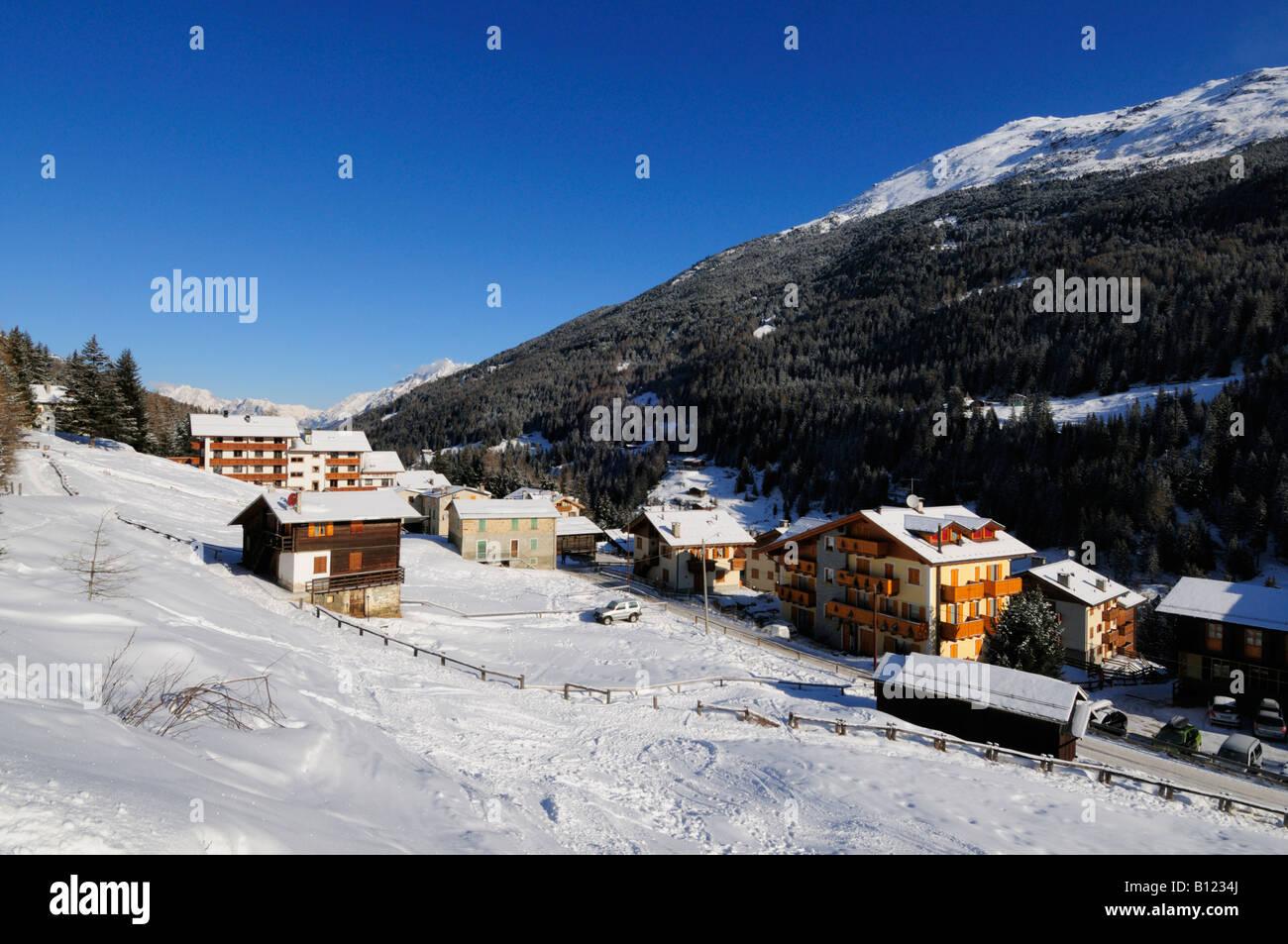 st caterina ski resort italy europe stock photo: 17871410 - alamy