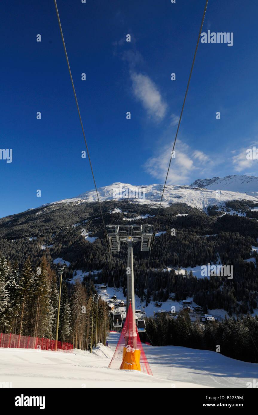 ski slopes at st caterina ski resort italy europe stock photo