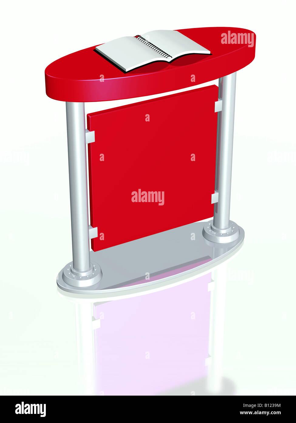 Presentation podium 3d concept illustration - Stock Image