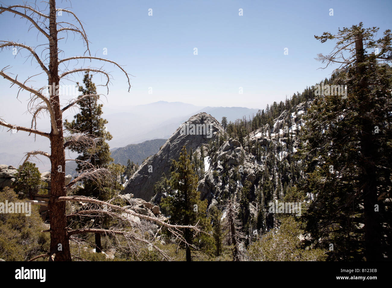 Mount San Jacinto State Park, at the top of the Palm Springs Aerial Tramway, California USA. - Stock Image