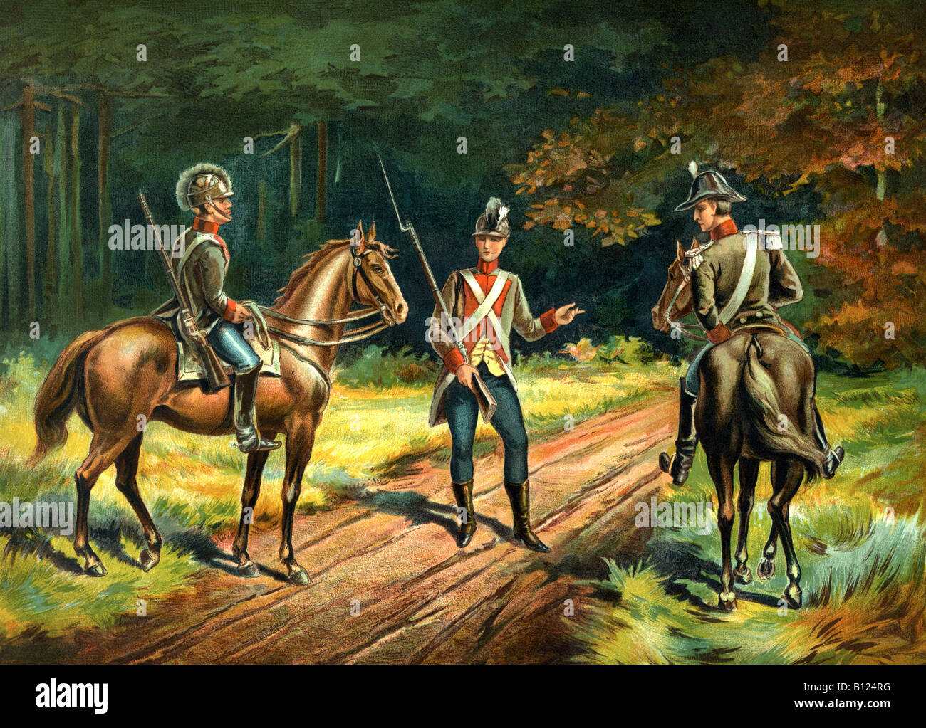 Commissioned U.S. Cavalry 1802-1810 - Stock Image