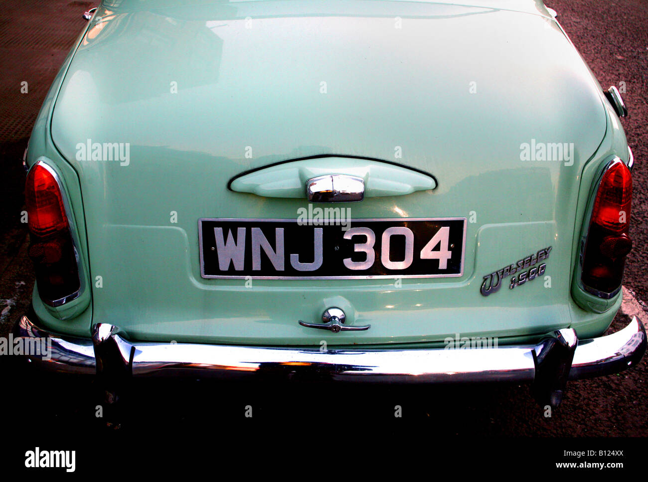 Rear view of Wolseley 1500 classic British car of 1960s - Stock Image
