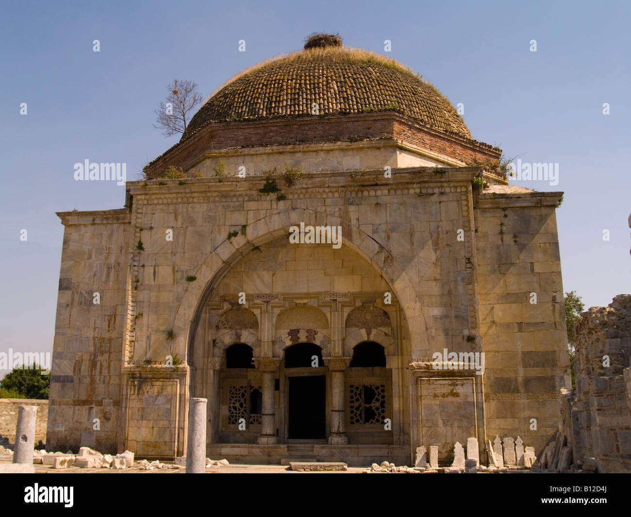 Ilyas Bey 15th Century Mosque, Miletos / Balat, Turkey - Stock Image