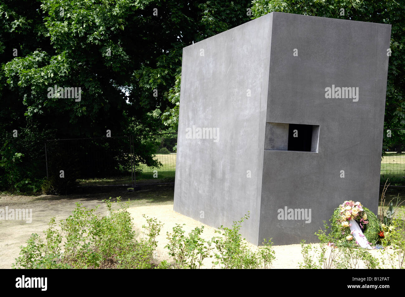 Berlin memorial to gay victims of nazis Stock Photo