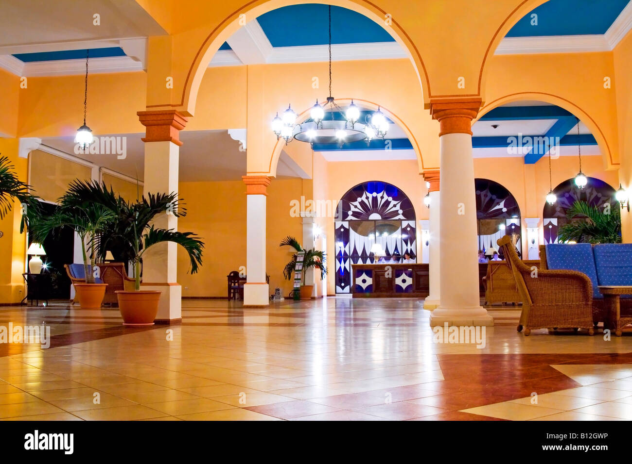 luxury hotel - front desk Stock Photo: 17882194 - Alamy