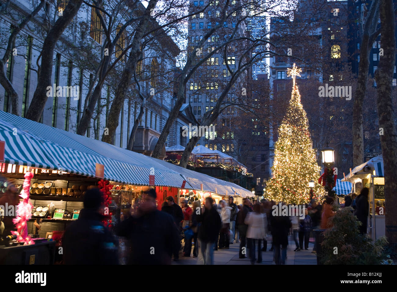 Christmas Market New York City.Bryant Park Christmas Market Stock Photos Bryant Park
