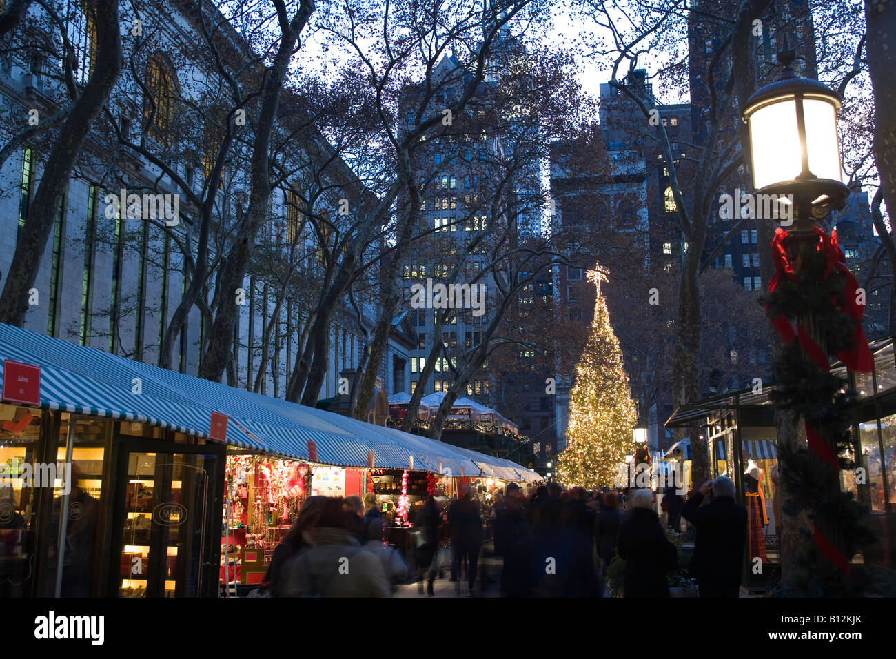 Christmas Market New York City.Christmas Market Bryant Park Manhattan New York City Usa