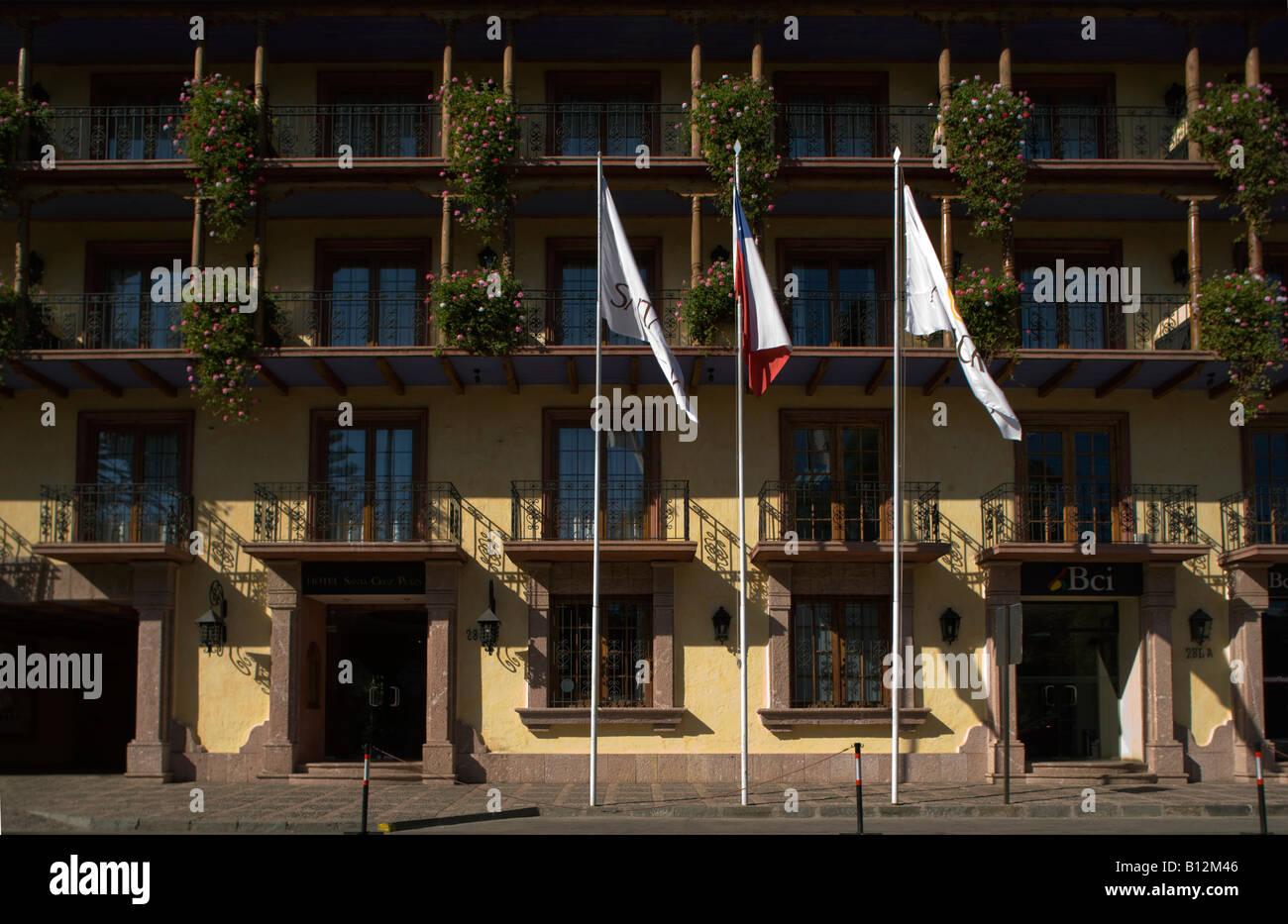 SANTA CRUZ HOTEL PLAZA DES ARMAS SANTA CRUZ RAPEL VALLEY CHILE - Stock Image