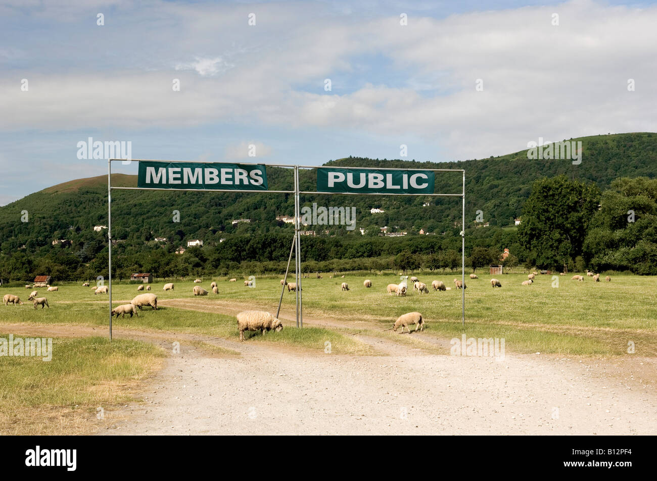 Members and public entrances to  the Three Counties Show-ground in Malvern Worcestershire - Stock Image