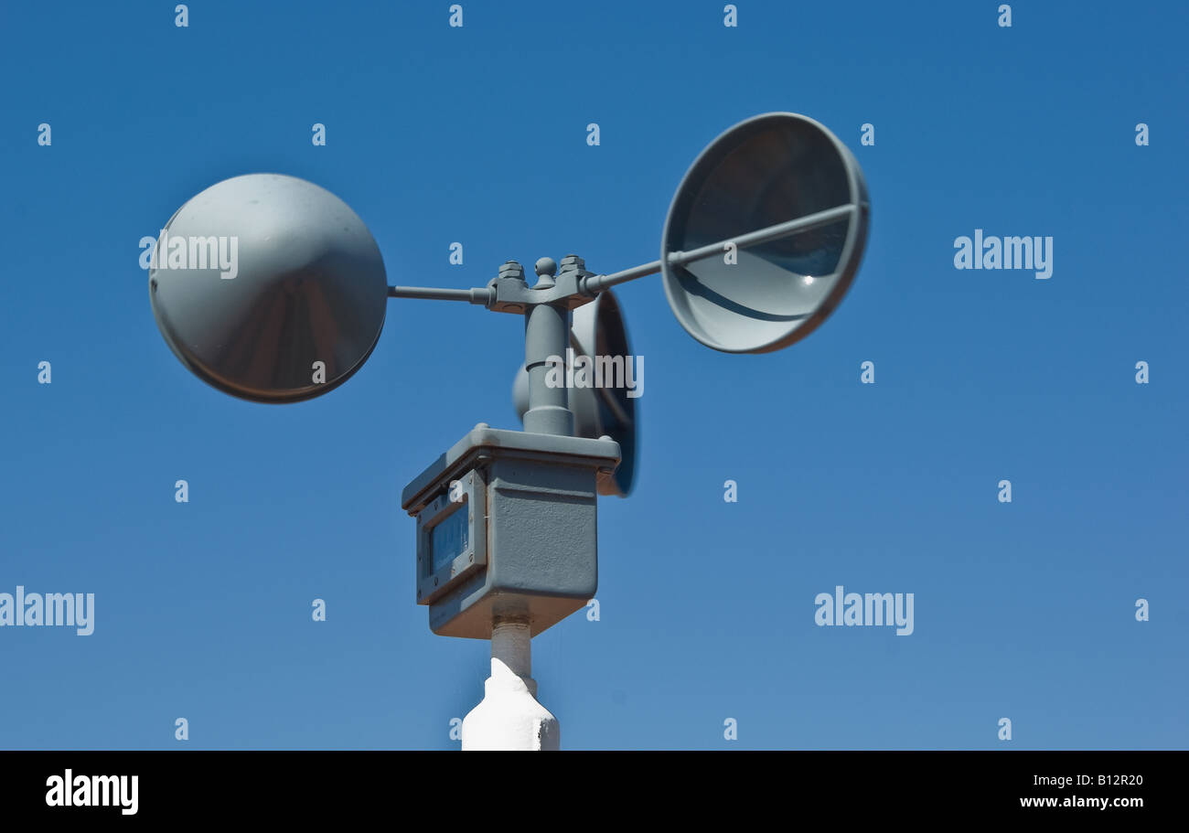 a weather station wind speed measuring device - Stock Image
