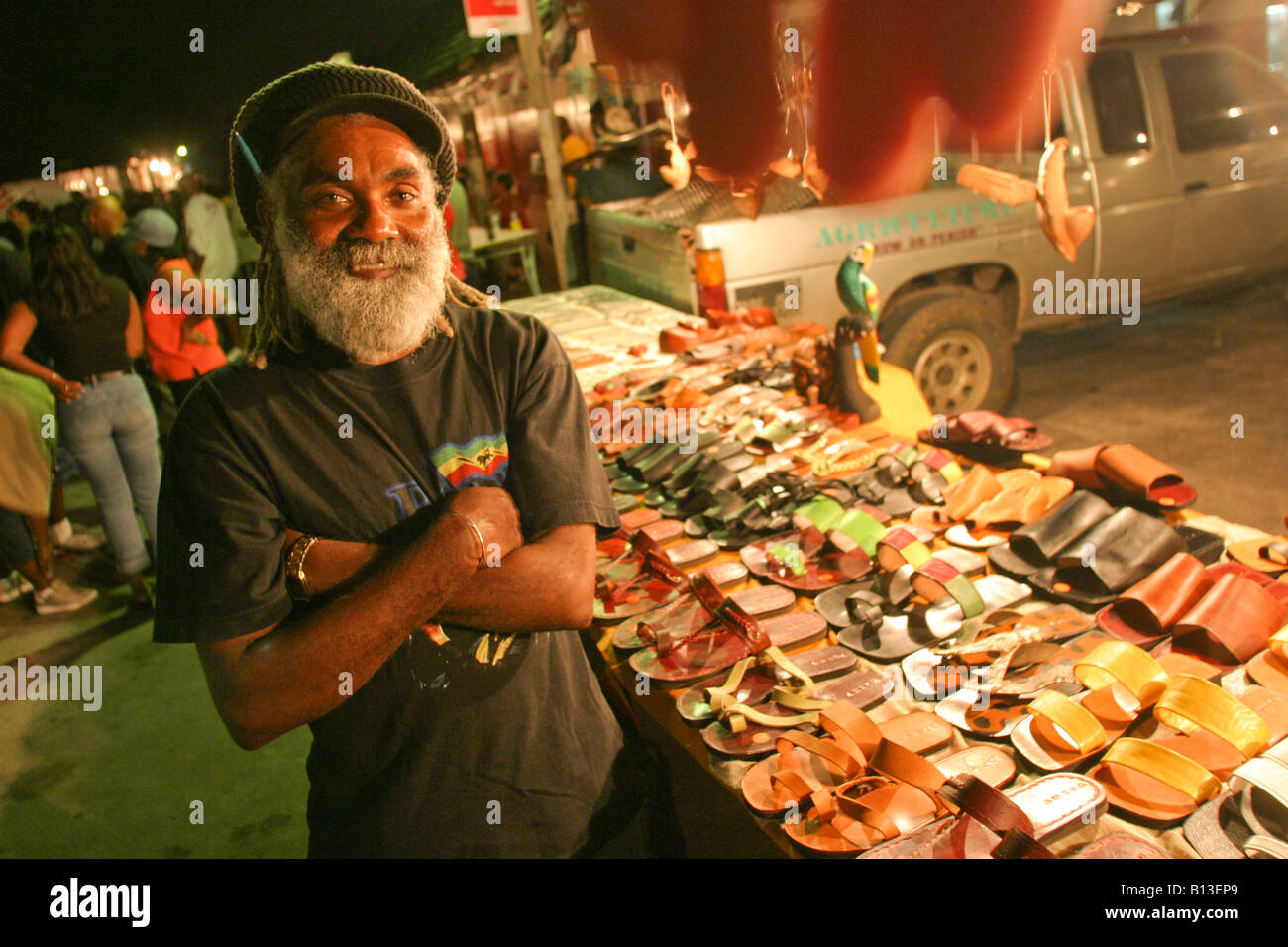 A street vendor at the oistins fish market in barbados for Jamaica fish market