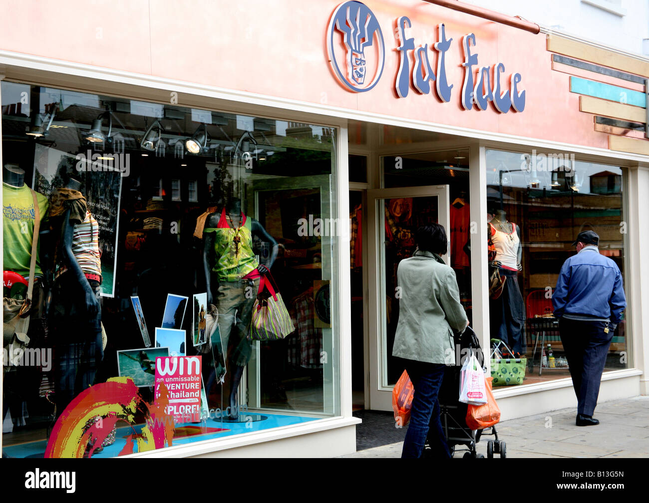 Branch of Fat Face fashion store in London Stock Photo