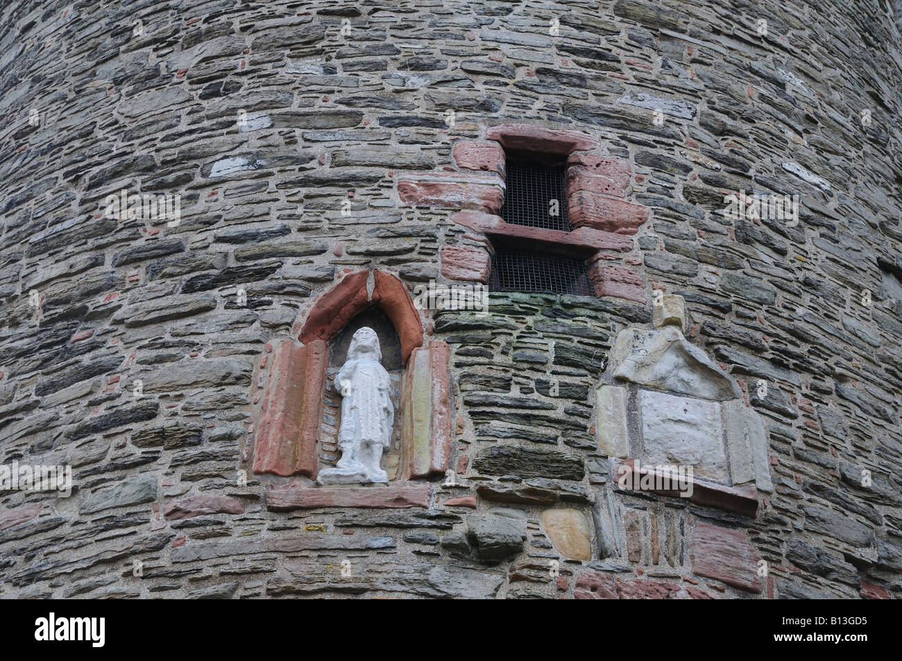 A detail of the Bishop's Palace in Kirkwall. The palace dates from the mid-12th century. - Stock Image