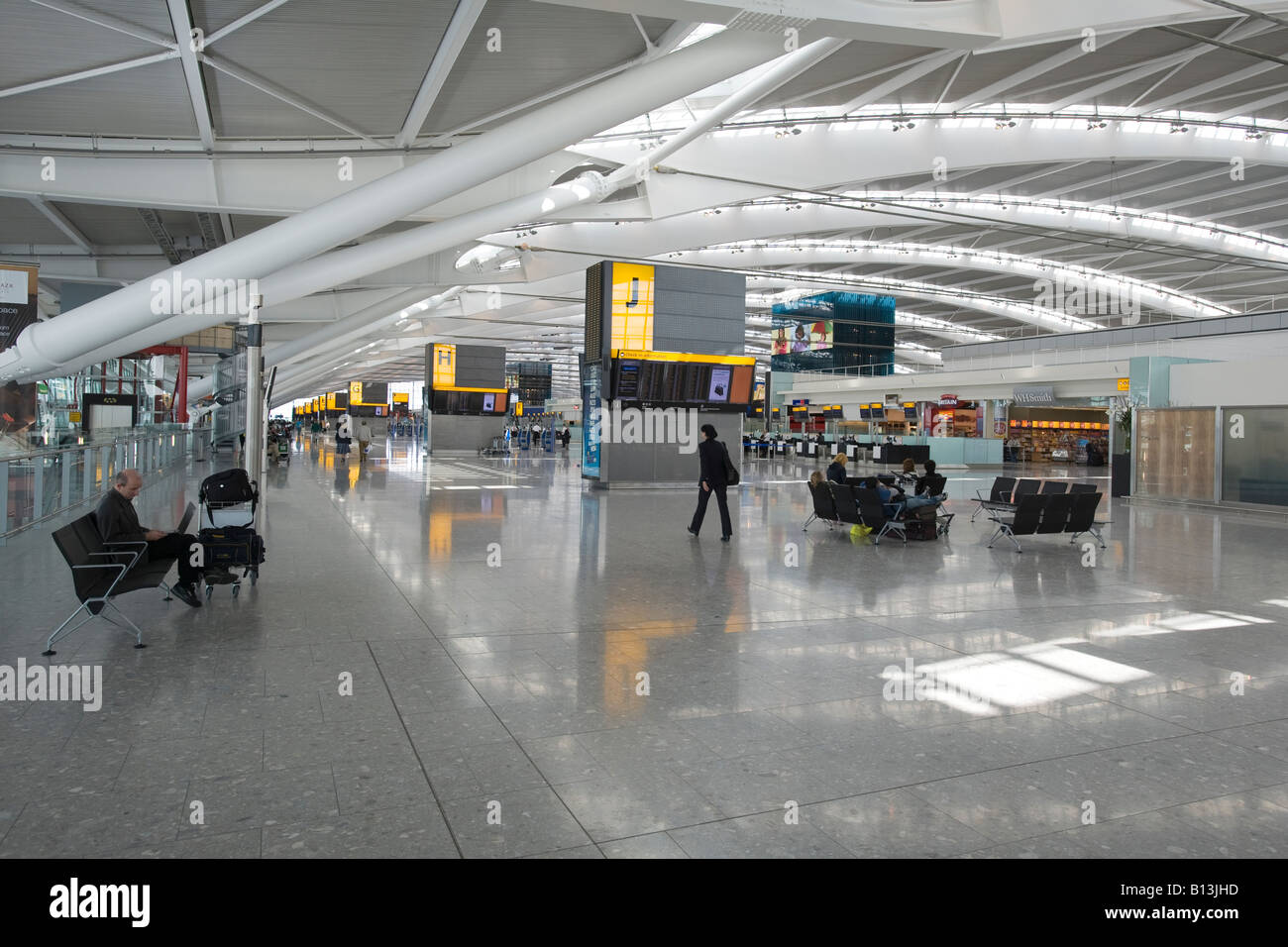 New Terminal 5 at Heathrow Airport, architect Richard Rogers - Stock Image