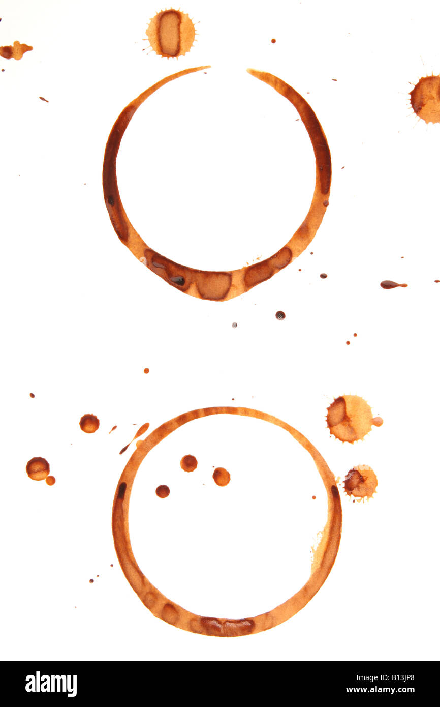 Coffee stains - Stock Image